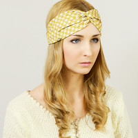 Head Band Girl Headband Hair Wrap Turban Headband Hairband Headband Woman Woman Headband Head Wrap Hair Turban Yellow Hearts