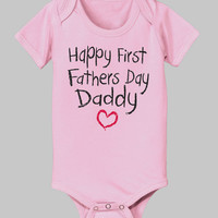 Light Pink 'First Father's Day' Bodysuit - Infant