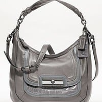Coach Kristin Leather Spectator Shoulder Hobo Bag Purse Tote 18287 Grey:Amazon:Clothing