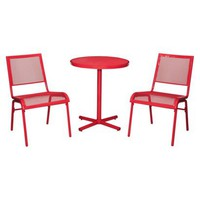Room Essentials LaSalle 3-Piece Mesh Patio Bistro Furniture Set - Red
