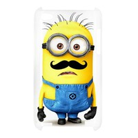 Despicable me minions with cute mustache Ipod Touch 4G Case Cover