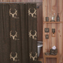 Bone Collector Shower Curtain in Brown - 07170010000BC - Shower Curtains - Shower Curtains &amp; Accessories - Bed &amp; Bath