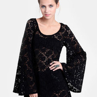 Enigma Bell Sleeve Lace Dress - $42.00 : ThreadSence, Women&#x27;s Indie &amp; Bohemian Clothing, Dresses, &amp; Accessories
