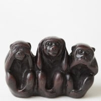 Three Wise Monkeys Figurine - $15.00 : ThreadSence, Women's Indie & Bohemian Clothing, Dresses, & Accessories