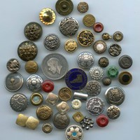 Lot of various metal buttons antique and vintage buttons