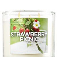 Strawberry Picnic 14.5 oz. 3-Wick Candle   - Slatkin & Co. - Bath & Body Works