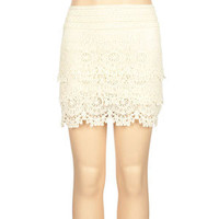 FULL TILT Crochet Tier Girls Skirt
