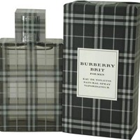 Burberry Brit By Burberry For Men. Eau De Toilette Spray 3.3 Ounces:Amazon:Beauty
