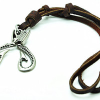 soft leather necklace,metal scissors pendant men leather long necklace, women leather necklace   RZ0279