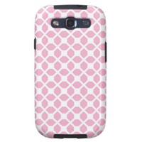 Girly Pink Geometric Pattern Pt1 Samsung Galaxy SIII Cases from Zazzle.com