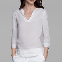 THEORY Hellio Cotton Blend Top