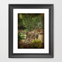 In the Garden Framed Art Print by Rainey&#x27;s View
