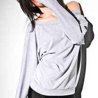 Oversized Sweater Grey  Cotton Soft Womens Teens Top by lamixx