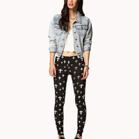 Ornate Cross Print Leggings | FOREVER 21 - 2054343380