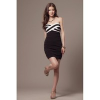 Black Knitting Sheath Dress