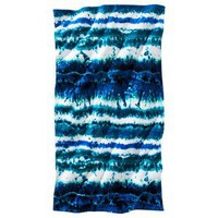 Stripe Tie Dye Beach Towel - Blue