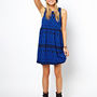 ASOS Smock Dress In Aztec Print at asos.com