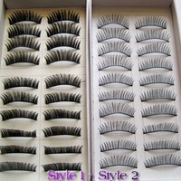 20 Pairs Regular Long and Thick Eyelashes Style 1 and 2:Amazon:Beauty