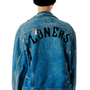 Obesity and Speed Loners Destroyed Denim Jacket | Dolls Kill