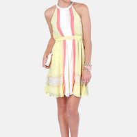 Lemonade to Order Yellow Halter Dress