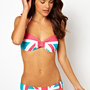 Wildfox Ivana Kiss Union Jack Bikini at asos.com