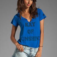 Rebel Yell Sunshine Slit Neck Crew in Royal from REVOLVEclothing.com