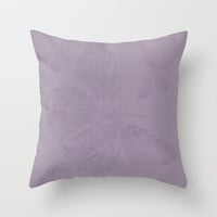 Butterfly in lilac  Throw Pillow by Jilly SB