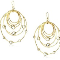 Isharya Polki Allure Mirror Hoop Earrings