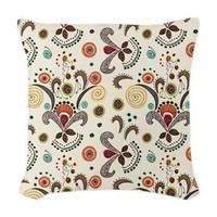 Wired Flower Pattern Woven Throw Pillow> Throw Pillows> Janet Antepara Designs