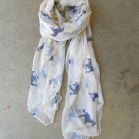 Wild Horses Scarf [3933] - $21.00 : Vintage Inspired Clothing & Affordable Summer Frocks, deloom | Modern. Vintage. Crafted.