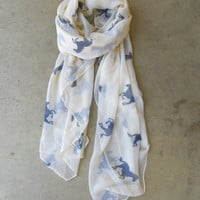 Wild Horses Scarf [3933] - $21.00 : Vintage Inspired Clothing &amp; Affordable Summer Frocks, deloom | Modern. Vintage. Crafted.