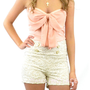 Copy of Lacey Grace High Waist Cream Sailor Shorts