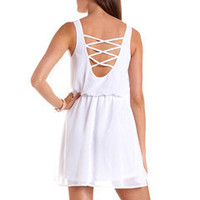 Studded Strappy Back A-Line Dress: Charlotte Russe