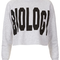 Biology Crop Sweat By Tee And Cake - Jersey Tops - Clothing - Topshop USA