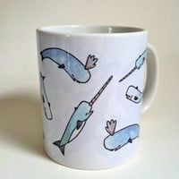 Narwhal Mug by thelittlecanoe on Etsy