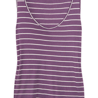 Aubin & Wills Linwood striped cotton tank – 52% at THE OUTNET.COM
