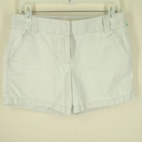J.Crew shorts 6 S weather broken in classic twill chino city fit khaki 4 pocket