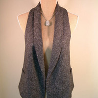 CAbi Vest M MEDIUM dark gray flecked racerback New! $78.00 Style 247