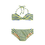 Girls&#x27; string halter bikini set in stripe - two-pieces - Girl&#x27;s swim - J.Crew