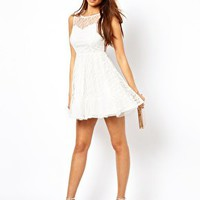 True Decadence Prom Dress In Layered Lace at asos.com