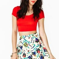 Pop Tropic Skater Skirt
