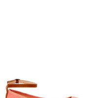 Mixx Shuz Regan Coral Nubuck Ankle Strap Pointed Flats