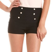 High Waisted Button-Front Millennium Short: Charlotte Russe
