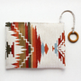 Ikat pouch  Cosmetic pouch  Tribal pouch  Earth colors by GalaBorn