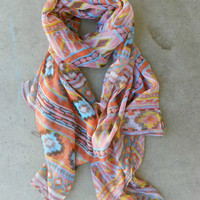 Native Rivers Scarf in Pastel [3956] - $18.00 : Vintage Inspired Clothing &amp; Affordable Summer Frocks, deloom | Modern. Vintage. Crafted.