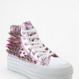 UNIF Koop Metallic Spike Flatform-Sneaker