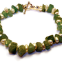 medusa - green jade bracelet by lilla stjarna - pearl bracelet - gifts under 50 - Mother's Day Gift - green bracelet - gemstone bracelet