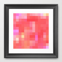 Re-Created Colored Squares No. 49 Framed Art Print by Robert Lee
