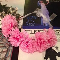 Hot Pink Carnation Flower Crown