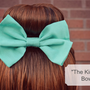 Big Teal Hair Bow